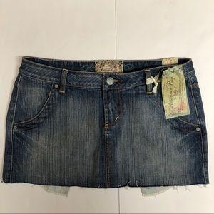 NWT American Rag CIE Denim Cut Off Skirt